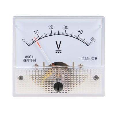 uxcell 電圧計 アナログパネル電圧ゲージ DC 0-50V 誤差マージン2.5% 85C1