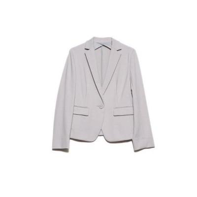 コムサイズム COMME CA ISM テーラードジャージージャケット (ライトグレー)【オケージョン・フォーマル・結婚式・お呼ばれ】