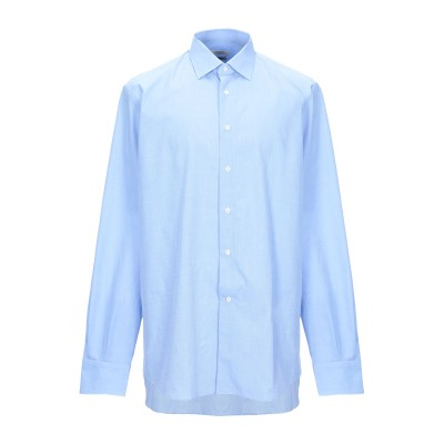 DEL SIENA シャツ スカイブルー 45 コットン 100% シャツ
