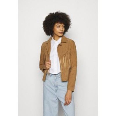 オークウッド レディース ジャケット&ブルゾン アウター JANIS - Leather jacket - tan tan