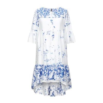 マニラ グレース MANILA GRACE ミニワンピース&ドレス ホワイト 40 コットン 100% ミニワンピース&ドレス