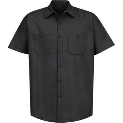 レッドキャップ シャツ トップス メンズ Red Kap Men's Short Sleeve Industrial Work Shirt Black