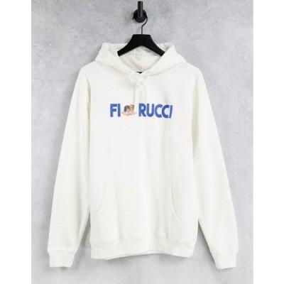 フィオルッチ レディース パーカー・スウェット アウター Fiorucci relaxed hoodie with logo front