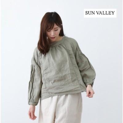 【SALE 20%OFF】ブラウス レディース おしゃれ SUNVALLEY/サンバレー フレンチリネン 日本製品染 プルオーバー