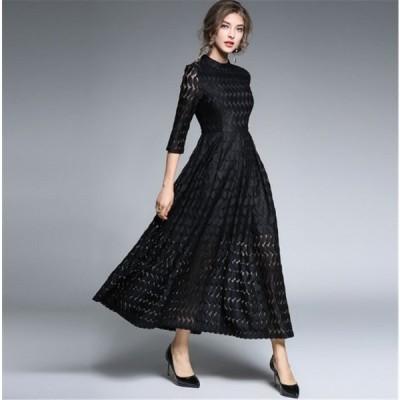 結婚式ワンピースパーティー通勤袖あり服装ファッション20代30代40代ロング丈ミモレ丈お呼ばれ二次会