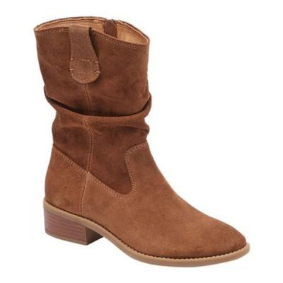 コンフォーティバ ブーツ&レインブーツ シューズ レディース Chrysta Mid Calf Boot (Women's) Siena Brown Suede