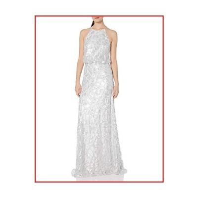 【新品】Donna Morgan Women's Tiffany Sequin Halter Blouson Gown, Cloud, 16【並行輸入品】