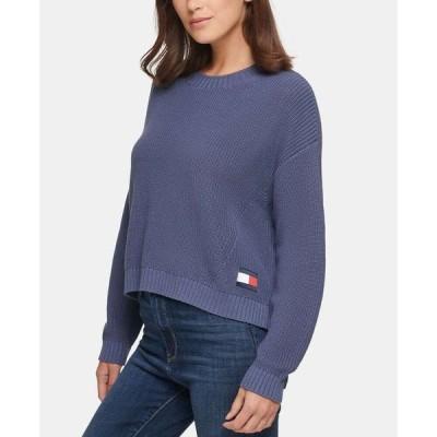 トミー ジーンズ Tommy Jeans レディース ニット・セーター トップス Cotton Sweater Vintage Blue