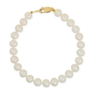 メイシーズ Macy's レディース ブレスレット ジュエリー・アクセサリー Children's White Cultured Freshwater Pearl (4-1/2mm) Bracelet No Color