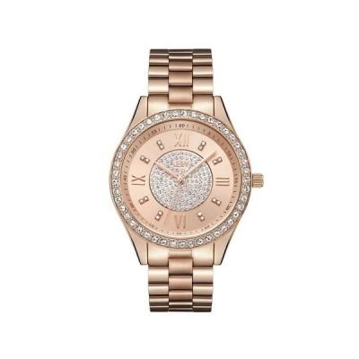 ジェイビーダブリュー 腕時計 アクセサリー レディース Women's Mondrian Diamond (1/6 ct.t.w.) 18K Rose Gold Plated Stainless Steel Watch Gold