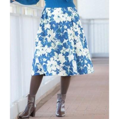 Viaggio Blu / ビアッジョブルー ピーチフラワープリントスカート