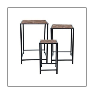 Home and Garden Mason Accent Tables Set of 3 Black Modern Contemporary Metal Nesting