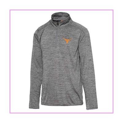 NCAA Texas Longhorns Mens University of Texas Authentic Apparel Kharkov Quarter Zip Pullover, Gray, Large【並行輸入品】