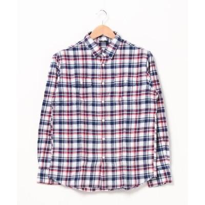 シャツ ブラウス 【OUTDOOR PRODUCTS】ネルチェックシャツ