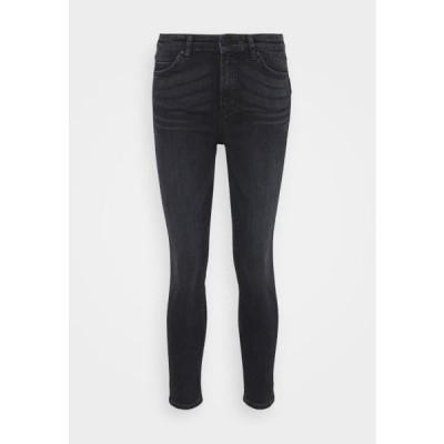 マルコポーロ レディース ファッション KAJ CROPPED - Slim fit jeans - multi/mid grey