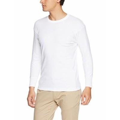 【送料無料】[グンゼ] インナーシャツ 快適工房 大きいサイズ4L 年間 綿100% 長袖丸首 KH3008B メンズ ホワイト 日本 4L (日本サイズ4L相