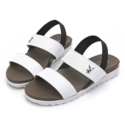 PLAYBOY自在夏日 簡約素色一字涼拖鞋-白(Y6298)