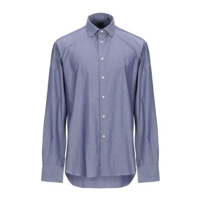 JAMES ROSS シャツ ブルーグレー 43 コットン 100% シャツ