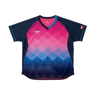 ティーエスピー(TSP) 卓球 レディース ゲームシャツ レディスリエートシャツ 公式試合着用可 ピンク S 032418
