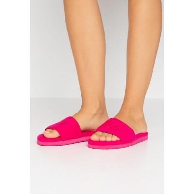 フィット フロップ  サンダル レディース シューズ POOLY LOGO - Slippers - very pink