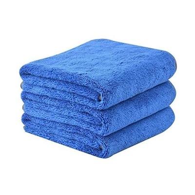 Sinland 愛車を守りたいなら 吸水 マイクロ ファイバー 洗車 傷防止 タオル コーティング 拭き 取り (ブルー 40cmx60cm)