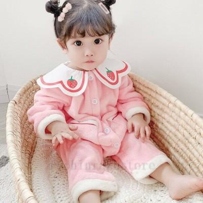 パジャマ 長袖 女児 子供服 韓国子供服 キッズ こども ベビー服 女の子 部屋着 ルームウェア お洒落 裏起毛 59