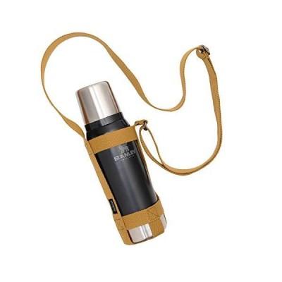 asobito(アソビト) ボトルホルダー Mサイズ ストラップ式 水筒 スタンレー 収納 長さ調節可能 キャメル キャンプ ab-021CM