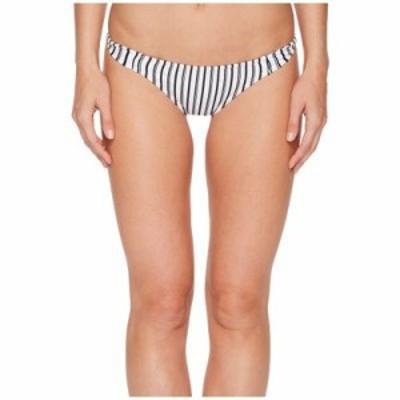 オニール ボトムのみ Highway Stripe Twist Tab Side Bikini Bottom White/Black