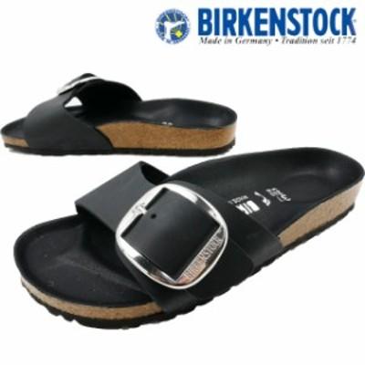送料無料 レディース サンダル ビルケンシュトック BIRKENSTOCK 1006523 マドリッド ビッグバックル 黒 ブラック ワンベルト ナロー幅