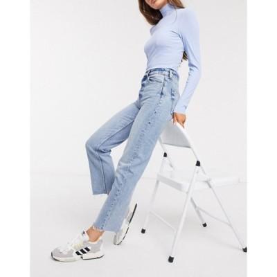 アンドアザーストーリーズ レディース デニムパンツ ボトムス & Other Stories high-waist straight leg jeans in bleached blue