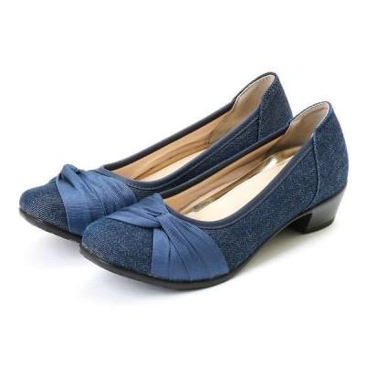 footsuki フットスキ  レディース デザインパンプス FS-15340 デニム 22.5〜24.5cm レディス 靴 シューズ