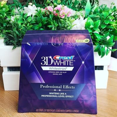 20袋入りクレストホワイトニング歯磨きアメリカンバージョンクレスト3Dホワイトエンハンスドバージョンブライトホワイト歯が黄色20ペアに明るく