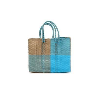 flower / メルカドバッグ  ブロックス  ブルー×ゴールド  エクストラスモール WOMEN バッグ > かごバッグ
