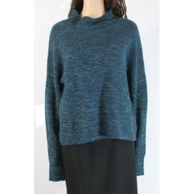 Marled  ファッション トップス John & Jenn Womens Ink Blue Size Large L Mock Neck Marled Sweater