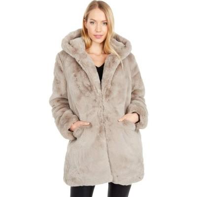 アパリス APPARIS レディース コート ファーコート フード アウター Maria Hooded Faux Fur Coat Taupe