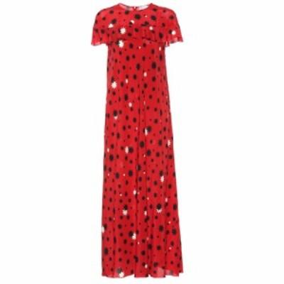 レッド ヴァレンティノ REDValentino レディース ワンピース マキシ丈 ワンピース・ドレス Printed silk maxi dress Deep Red