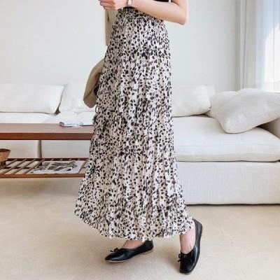 ENVYLOOK レディース スカート Trendy Leopard Ring Clong Skirt