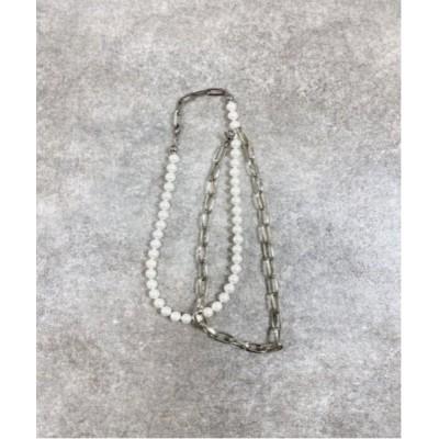 ネックレス 【Chikashitsu +】set pearl chain necklace