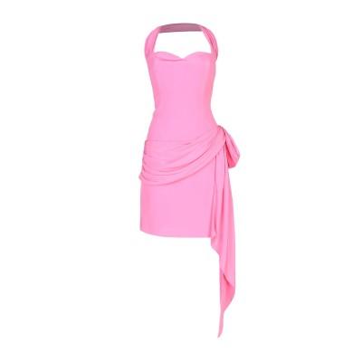 モスキーノ MOSCHINO ミニワンピース&ドレス ピンク 46 シルク 100% ミニワンピース&ドレス