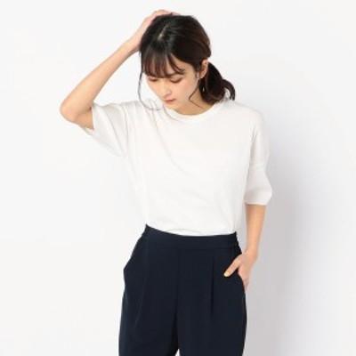 ノーリーズ レディース(NOLLEY'S)/総針抜きクルーネックニットTシャツ