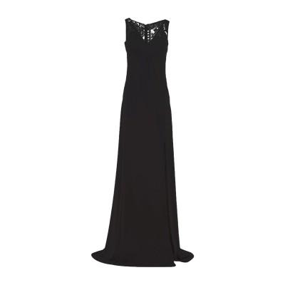 SOANI ロングワンピース&ドレス ブラック 48 ポリエステル 100% ロングワンピース&ドレス