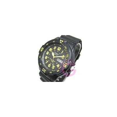 CASIO (カシオ) MRW-200H-9B/MRW200H-9B スポーツギア イエローインデックス ペアモデル メンズウォッチ チープカシオ 腕時計