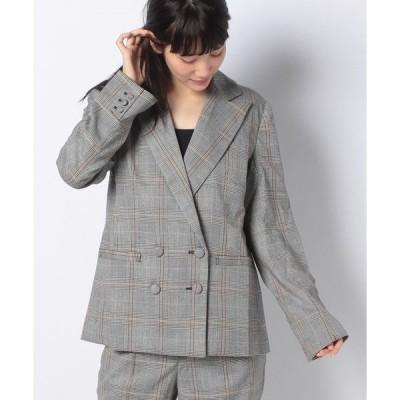 【シエルエアー】【セットアップ対応商品】チェックジャケット