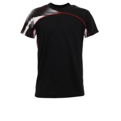 ピージー(PG)ドライプラス バレーシャツ 761PG0ES8208 BLK 【バレーボールウェア スポーツウェア メンズ】