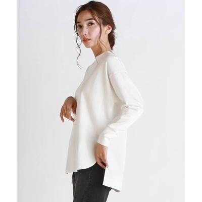 LAUTREAMONT ONLINE SHOP / オーガニックコットンを使用したロングスリーブTシャツ WOMEN トップス > Tシャツ/カットソー