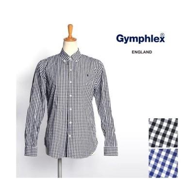 レディース/Gymphlex/ジムフレックス/ギンガムチェックB.Dシャツ/長袖/品番:J-0872GSC/1枚までメール便可-3