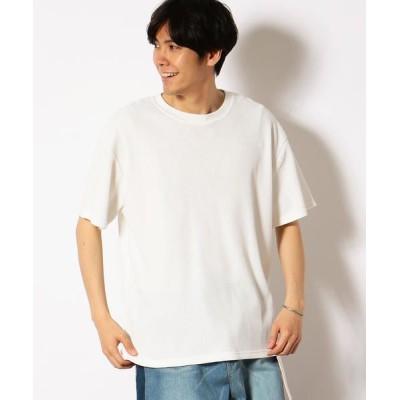 Purple&Yellow/パープルアンドイエロー ワッフル ワイドシルエット Tシャツ ホワイト S