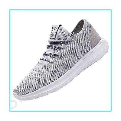 KEEZMZ Men's Running Shoes Fashion Breathable Sneakers Mesh Soft Sole Casual Athletic Lightweight Gray-44【並行輸入品】