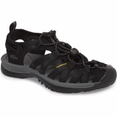 キーン KEEN レディース サンダル・ミュール スポーツサンダル シューズ・靴 Whisper Water Friendly Sport Sandal Black/Magnet