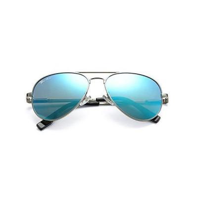 Pro Acme 偏光アビエーターサングラス 男女兼用 100%UV保護 58mm US サイズ: M カラー: ブルー
